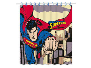 Cortina de Baño Superman Escena 180x180 cm Vais,,hi-res