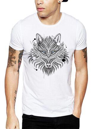 Polera Geometric Wolf Get Out,Blanco,hi-res