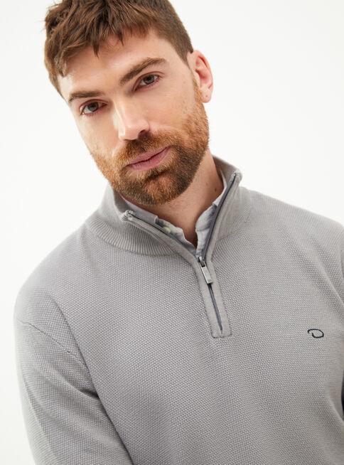Sweater%20Liso%20Half%20Zipper%20Oscar%20de%20La%20Renta%2CCeniza%2Chi-res