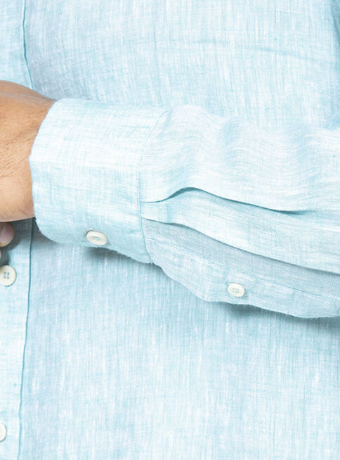 Camisa%20Lino%20Lisa%20Manga%20Larga%20Arrow%2CVerde%2Chi-res