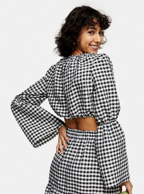 Blusa%20Black%20and%20White%20Gingham%20Topshop%2C%C3%9Anico%20Color%2Chi-res