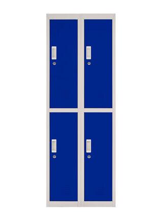 Locker Office Llaves Azul 4 Puertas 57x50x166 cm Maletek,,hi-res