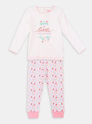 Pijama Tribu Estampado Niña,Blanco,hi-res