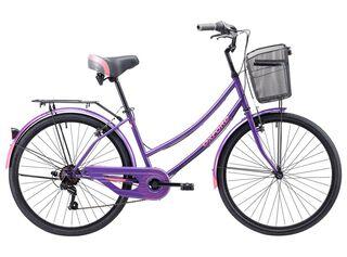 Bicicleta de Paseo Oxford Mujer Cyclotour V-brake Acero Aro 24,Morado,hi-res