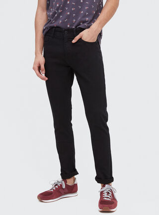 Jeans Slim Fit Focalizado Opposite,Negro,hi-res