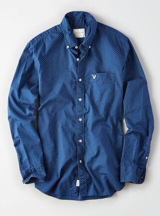 Camisa Print Bear American Eagle,Azul Petróleo,hi-res