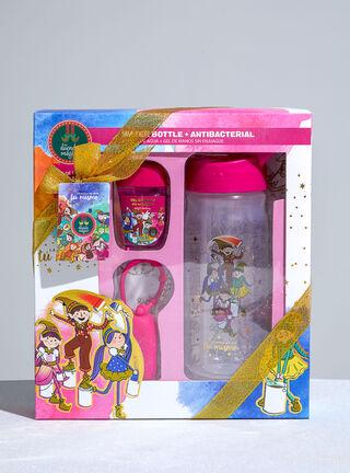 Set Gel Antibacterial + Botella Rosa Mi Duende Magico Set Spa,,hi-res