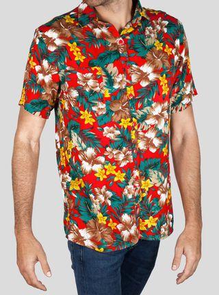 Camisa Manga Corta Diablada Libre Apparel,Rojo,hi-res