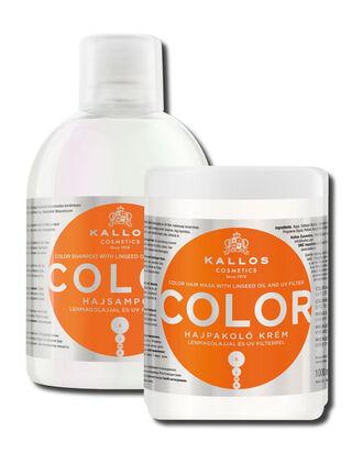 Set Shampoo y Mascara con Aceite de Linaza y Filtro UV Kallos,,hi-res
