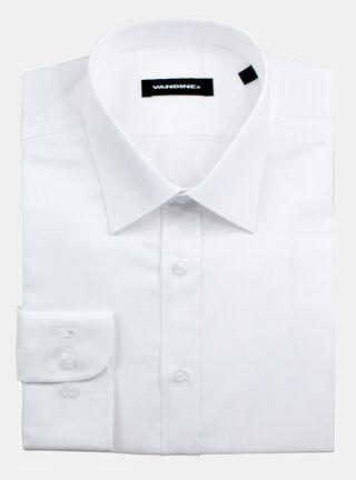 Camisa Slim Fit Cuello Romo Sin Bolsillo Vandine,Marfil,hi-res