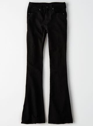 Jeans Hi Rise Slim Flare American Eagle,Negro,hi-res