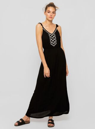 Vestido Bordado Aussie ,Negro,hi-res