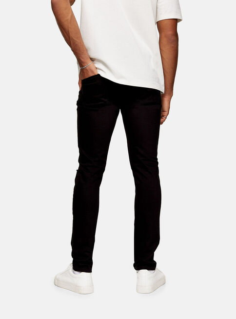 Jeans%20Negra%20Double%20Knee%20Rip%20Stretch%20Skinny%20Topman%2C%C3%9Anico%20Color%2Chi-res