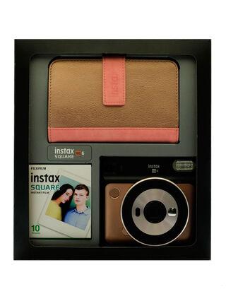 Kit Cámara Instantánea FujiFilm SQ6 Blush Gold + Papel Fotográfico + Album 80 Fotográfias,,hi-res