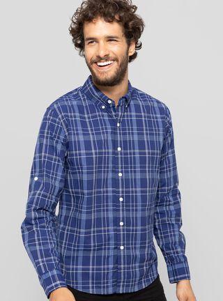Camisa Manga Larga Cuadrillé Levi's,Azul,hi-res