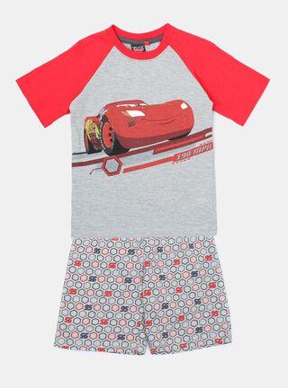 Pijama Cars Estampado Niño,Ceniza,hi-res