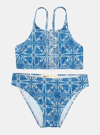 Trajes de Baño Aussie Print Niña,Azul Eléctrico,hi-res