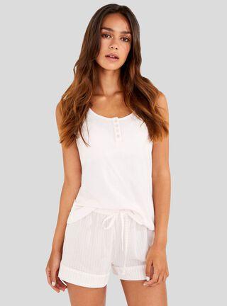 Pijama White Básica Women Secret,Coral,hi-res