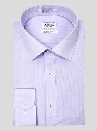 Camisa Arrow Tailored Fit Texturizada Puño Simple Arrow,Lila,hi-res