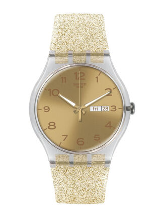 Reloj Mujer Golden Sparkle Swatch,,hi-res
