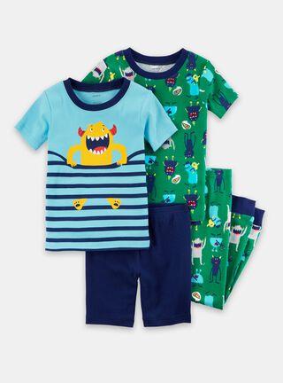 Pijama 4 Piezas Niño 5 A 8 Años Carter's,Diseño 1,hi-res