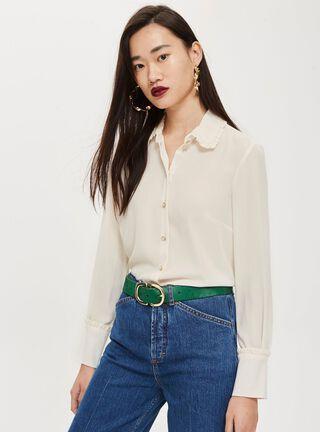 Blusa  Ruffle Collar Topshop,Único Color,hi-res