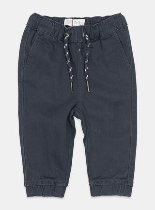 Pantalón Tribu Jogger Color Elásticado Niño,Azul Petróleo,hi-res
