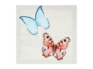 Canvas Mariposas 28 x 28 cm Attimo,Rojo,hi-res