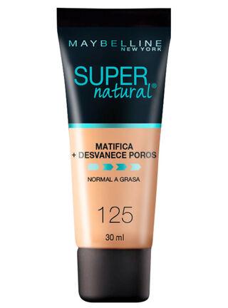 Base de Maquillaje Super Natural Matte 125 Nude Beige Maybelline 30 ml,,hi-res