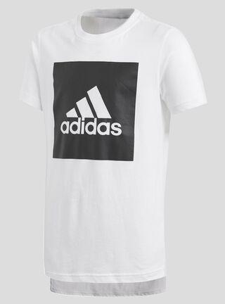 Polera Adidas Essentials Logo Niño,Blanco,hi-res