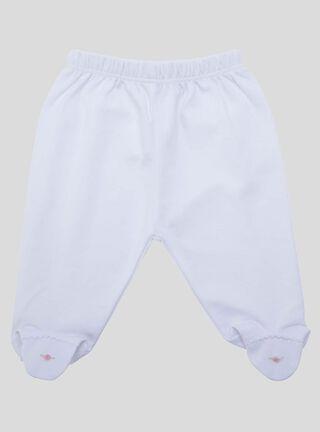 Pantalón Lucky Baby Flor Niña,Blanco,hi-res