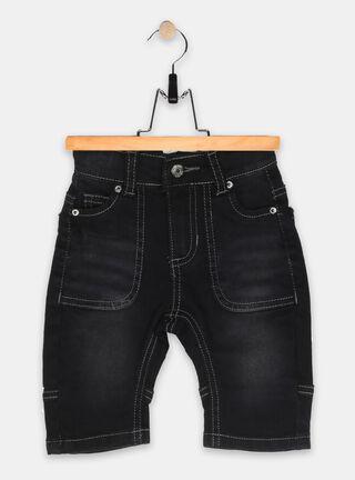 Jeans Pillin Básico Niño,Negro Mate,hi-res