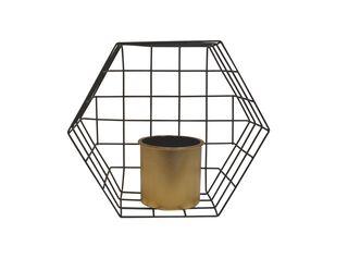 Porta Planta Pared Hexagonal Rejilla 30.5 x 13.2 x 26.8 cm Alaniz Home,,hi-res