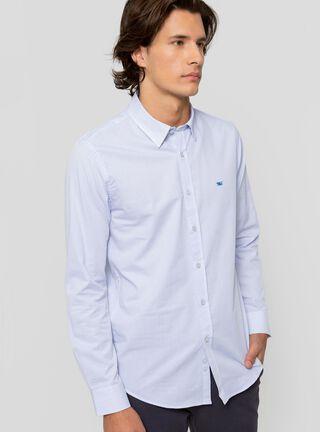 Camisa Bussines Mini Jackard Ferouch,Azul,hi-res