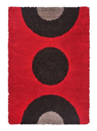 Alfombra Shaggy Simetry Red 133 x 180 cm Mashini,,hi-res