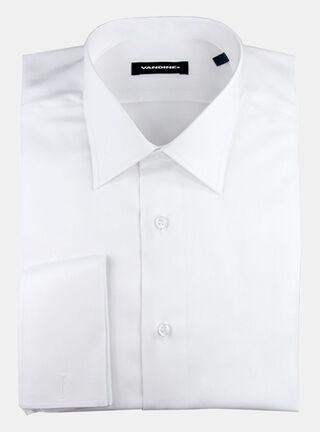 Camisa Slim Fit Largo Manga 33-34 Collera Cuello Romo Sin Bolsillo Vandine,Marfil,hi-res