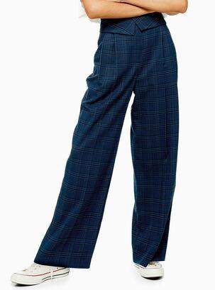 66d0e9308ec2 Pantalón Check Wide Leg Topshop