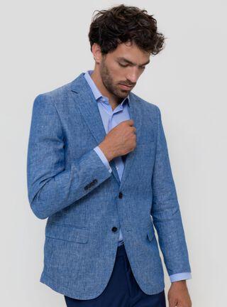 Blazer Formal Jaspeada Legacy,Azul Eléctrico,hi-res
