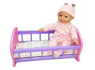 Muñeca Baby Crib con Cuna 33 CM Paris,,hi-res