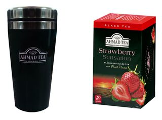Travel Mug + Té Strawberry Ahmad,,hi-res