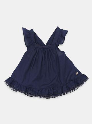 Blusa Opaline Vuelos Niña,Azul Oscuro,hi-res