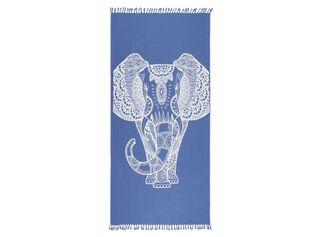 Toalla Boho Fringes 100 x 180 cm Alaniz Home,Azul Marino,hi-res