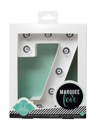Número con Luces Marquee 7 American Crafts 21 x 5 x 17 cm,,hi-res