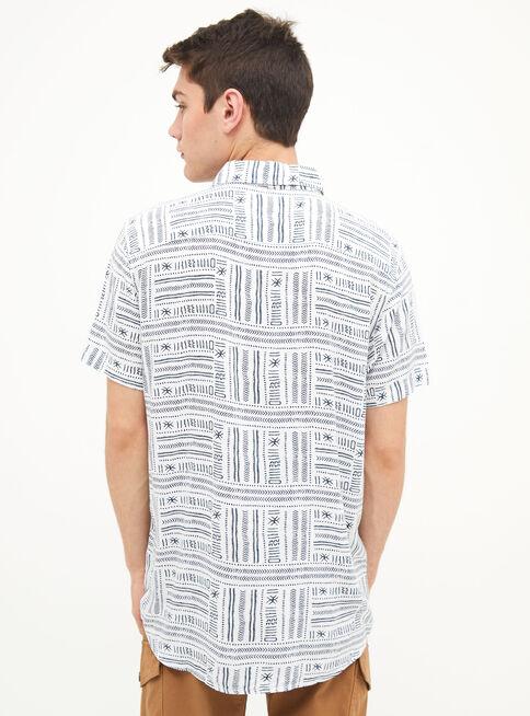 Camisa%20Manga%20Corta%20Viscosa%20Estampado%20%C3%89tnico%20Aussie%2CAzul%2Chi-res