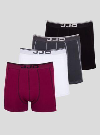 Pack 4 Boxer Liso Clásicos JJO,Surtido,hi-res