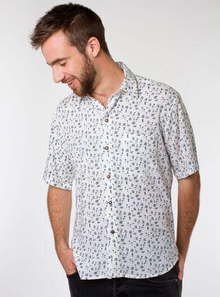 Camisa Guayabera Keola,Azul Marino,hi-res