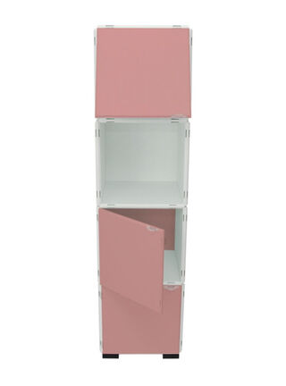 Mueble Modular Set 20 Piezas Blanco Rosa Kab Möbel,,hi-res
