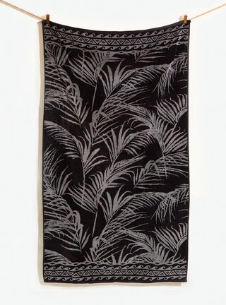 Toalla Playa 86 x 160 cm Attimo,Negro,hi-res