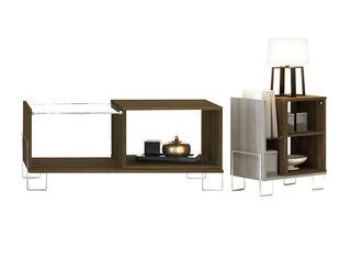 Combo Chaplin Mesa Centro Glass + Mesa Lateral Favatex,,hi-res