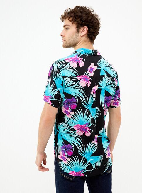 Camisa%20Tropical%20Manga%20Corta%20Aussie%2CGris%20Perla%2Chi-res